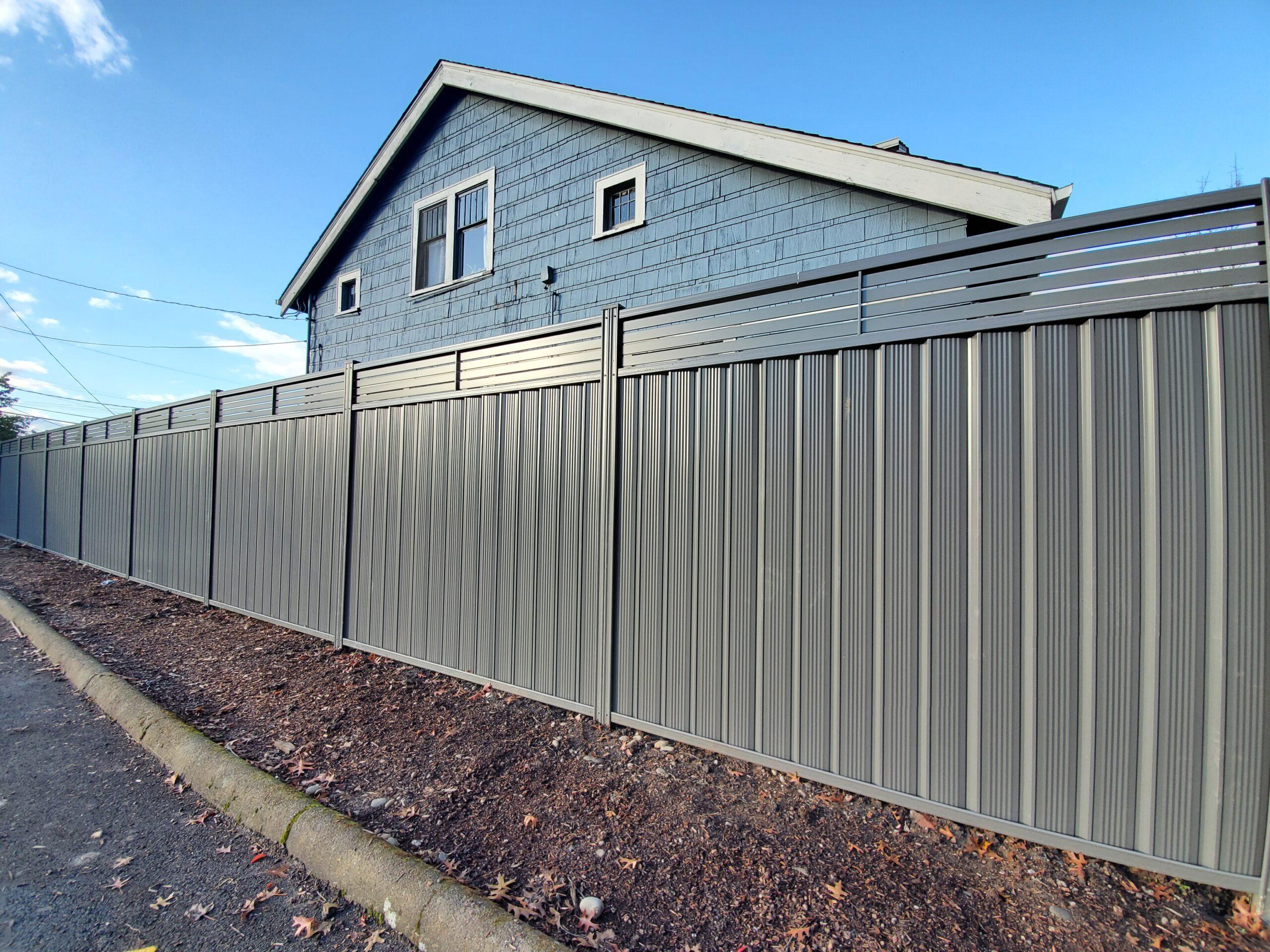 House with durabond grey fence